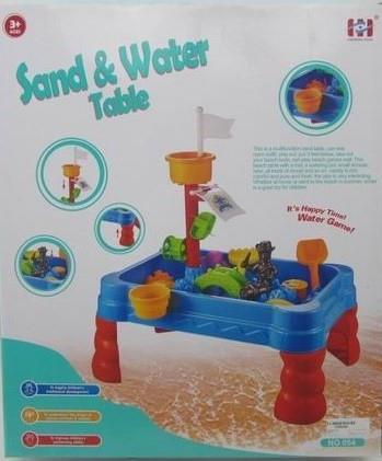 Stolik z akcesoriami do piasku i wody