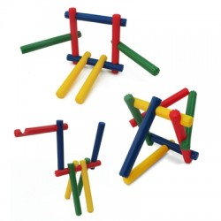 Słomki/patyczki/listewki/kijki- klocki konstrukcyjne